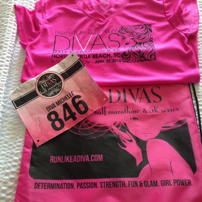 Swag for the Diva's Half Marathon