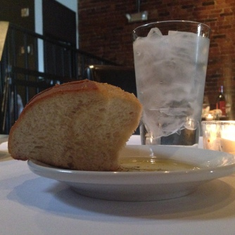 house bread at Due Amici