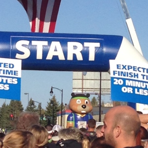 The start line of the 5K