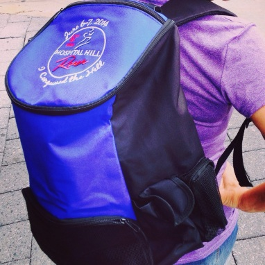 Backpacks provided to all runners