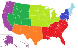 Regions devided